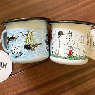 2ムーミン琺瑯マグカップ2個セット☆ムーミン食器☆北欧雑貨(食器)