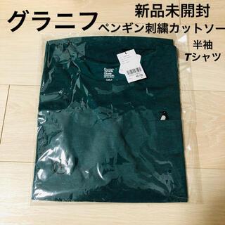 Design Tshirts Store graniph - 新品未開封◆グラニフ ペンギン刺繍カットソー Tシャツ レディース グリーン緑