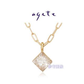 agete - agete K18 ダイヤモンド ネックレス * classic ダイヤ