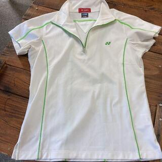 【YONEXヨネックス】レディース半袖/ポロシャツ/Mサイズ/白ホワイト(ウェア)