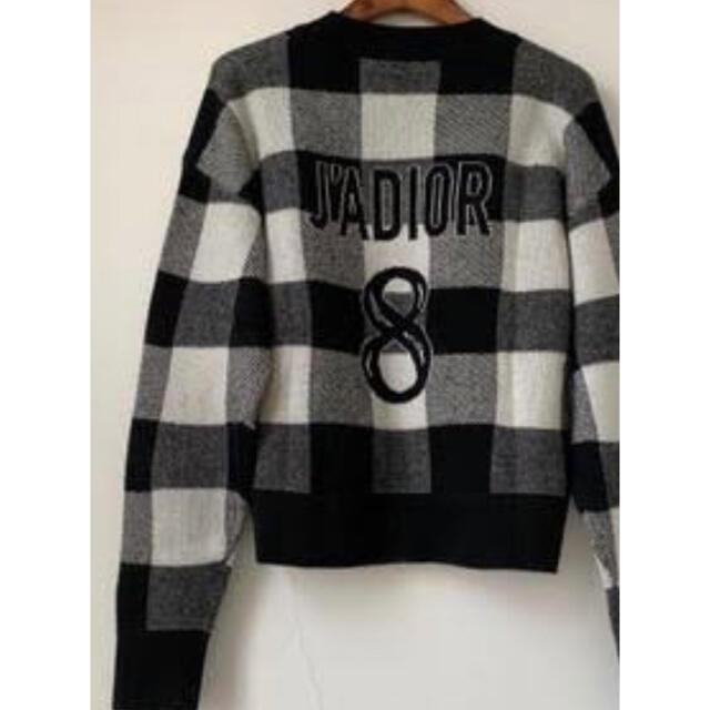 Christian Dior(クリスチャンディオール)のDior ☆チェックニット36 レディースのトップス(ニット/セーター)の商品写真