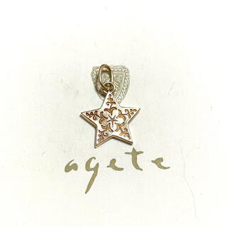 agete - agete NOJESS K10 星 スター ネックレス チャーム ペンダント