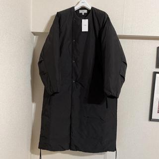 HYKE - hyke COLLARLESS COAT 17271 BLACK サイズ1