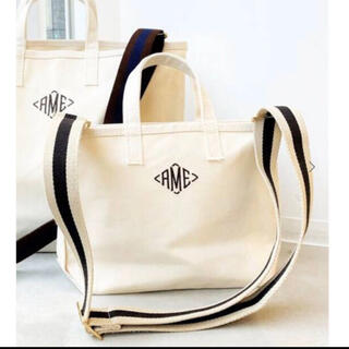 L'Appartement DEUXIEME CLASSE - AMERICANA/アメリカーナ  AME Tote Bag Mini ネイビー