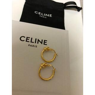 celine - (新品)CELINE ゴールドフープピアス
