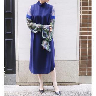 mame - mame ☆ 2020AW Printed Sleeve Dres