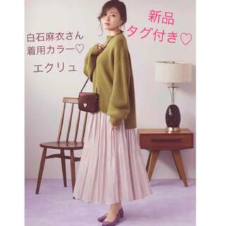 ジーユー(GU)の【新品タグ付き】グレイル♡ジーユー♡ユニクロ♡サテン♡プリーツ♡ロングスカート(ロングスカート)