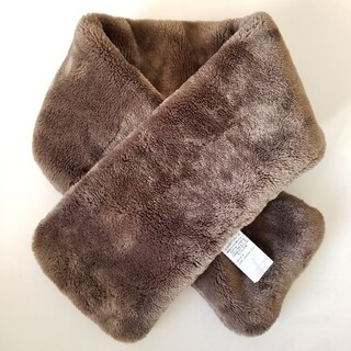 MUJI (無印良品) - 無印良品 巻く毛布 マフラー ティペット ブラウン