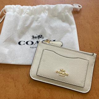 COACH - COACH カードケース 白