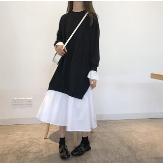 ZARA - 韓国ファッション シャツワンピース トレーナー ワンピース レディース 即日発送