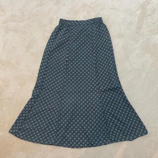 ジーユー(GU)のGU 小紋柄ロンクスカート(ロングスカート)