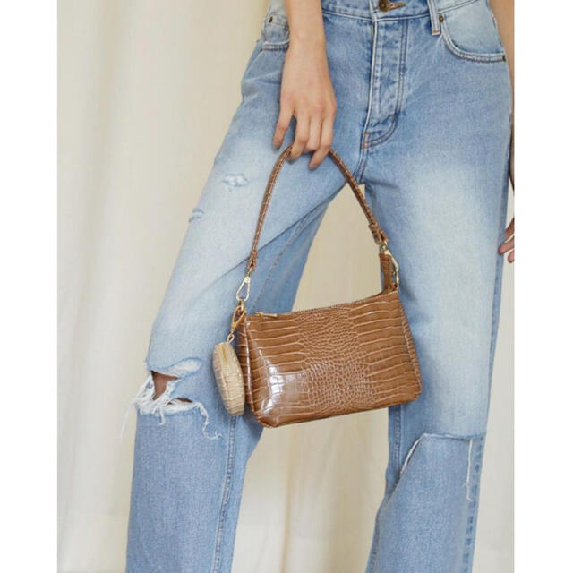 SeaRoomlynn(シールームリン)のsearoomlynn Double handle クロコバッグ レディースのバッグ(ハンドバッグ)の商品写真