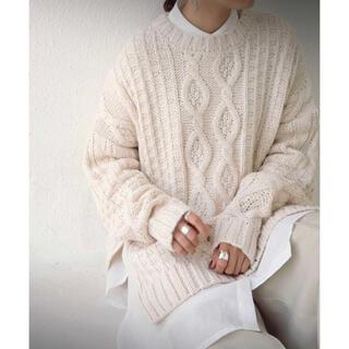 antiqua - アンティカ ケーブル編みニット セーター