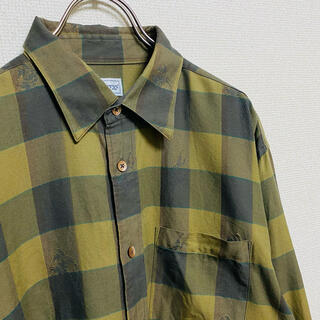 バーバリー(BURBERRY)の一点物 90年代vintage バーバリー ノバチェック 総柄 騎士ロゴ シャツ(シャツ)