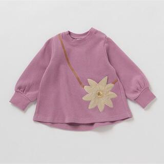プティマイン(petit main)のプティマイン 90 花ポシェット風チュニック(Tシャツ/カットソー)