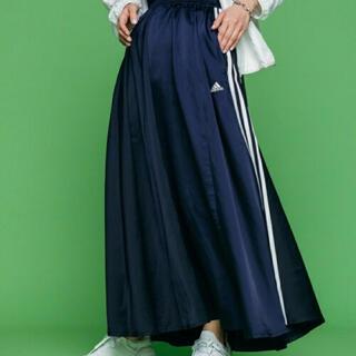 adidas - adidas ロングサテンスカート マストハブ ブルー OTサイズ