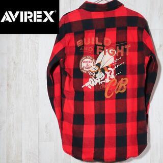 AVIREX - 希少 アヴィレックス avirex チェックネルシャツ バックロゴ 蜂beeロゴ