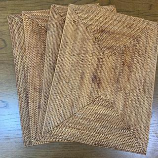 ムジルシリョウヒン(MUJI (無印良品))の無印良品 ランチョンマット 角形 ケタック 4枚セット(テーブル用品)