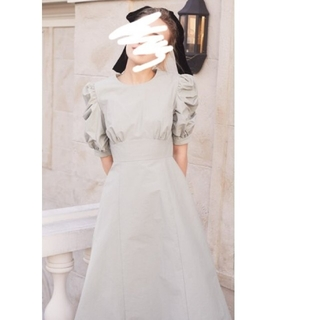メゾンドフルール(Maison de FLEUR)のメゾンドフルール プチローブ パワショルタイトドレス MaisondeFLEUR(ひざ丈ワンピース)