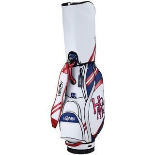 ホンマゴルフ(本間ゴルフ)の新品 本間ゴルフ CB-12015キャディバッグ 9型 ホワイト/レッド(バッグ)