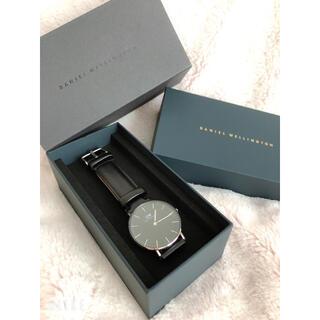 ダニエルウェリントン(Daniel Wellington)のDANIEL WELLINGTON  腕時計 ブラック(レザーベルト)