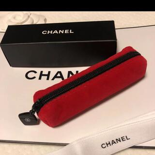 シャネル(CHANEL)の【新品】CHANELシャネル BLEU ノベルティポーチ red (ポーチ)