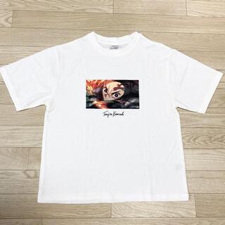 GU - 新品 GU ジーユー コラボ 鬼滅の刃 炭治郎 Tシャツ 白 S レディース