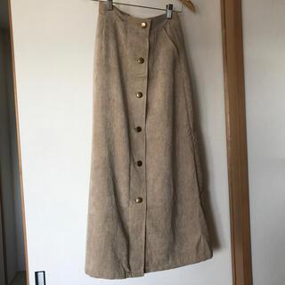 しまむら - 【しまむら】試着のみ!コールテンボタンスカート(中肌色)