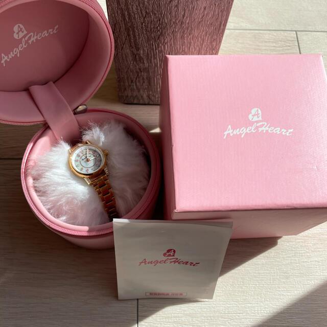 Angel Heart(エンジェルハート)のAngel Heart時計 ゴールド時計 ストーン付き レディースのファッション小物(腕時計)の商品写真