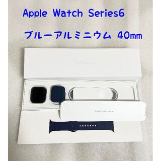 アップル(Apple)のApple Watch Series6 ブルーアルミニウム 40mm GPSモデ(腕時計(デジタル))