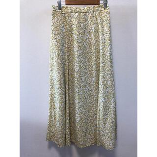 GU - 花柄 ロングスカート