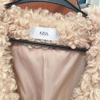 アズールバイマウジー(AZUL by moussy)のmoussy プードルコート キャメル(毛皮/ファーコート)