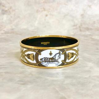 エルメス(Hermes)の正規品 エルメス バングル エマイユ 七宝焼き MM ゴールド 馬 ブレスレット(ブレスレット/バングル)