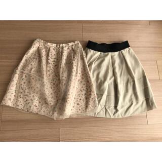STRAWBERRY-FIELDS - ストロベリーフィールズ スカート2枚セット