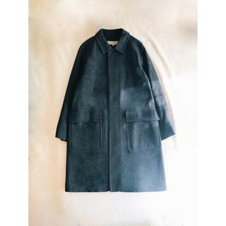 マーガレットハウエル(MARGARET HOWELL)の【超美品】 Heavy wool flannel 18AW マーガレットハウエル(ステンカラーコート)