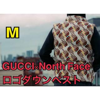 グッチ(Gucci)のグッチ ノースフェイス ロゴダウンベスト GUCCINorth Face 正規品(ダウンベスト)