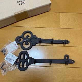 アンティーク 鍵デザイン フック キーフック(インテリア雑貨)