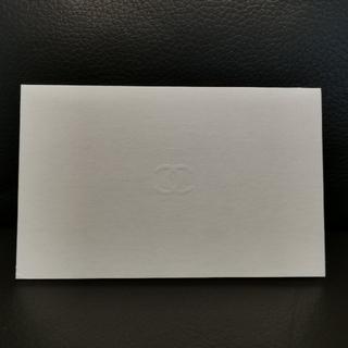 シャネル(CHANEL)のCHANELメッセージカード2枚セット(カード/レター/ラッピング)