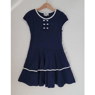 クミキョク(kumikyoku(組曲))のKUMIKYOKU(組曲) ワンピース Lサイズ 120~130 ネイビー(ドレス/フォーマル)