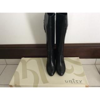 ヒミコ(卑弥呼)の百貨店Unity★黒ロングブーツ23、5cm★未使用(ブーツ)