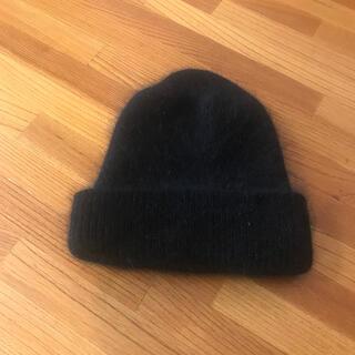 カージュ(Khaju)のSHIPS khaju ニット帽 ブラック ビーニー シップス カージュ(ニット帽/ビーニー)