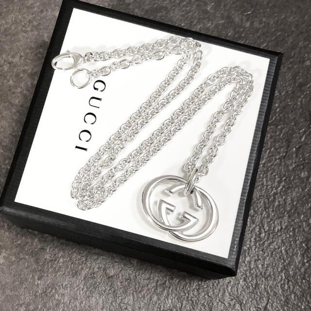 Gucci(グッチ)の正規品 グッチ ネックレス シルバー SV925 GG インターロッキング 銀3 メンズのアクセサリー(ネックレス)の商品写真