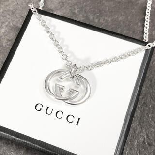 グッチ(Gucci)の正規品 グッチ ネックレス シルバー SV925 GG インターロッキング 銀3(ネックレス)