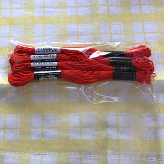 オリンパス(OLYMPUS)のオリンパス刺繍糸オレンジ⭐️(生地/糸)
