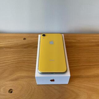 Apple - iPhone XR Yellow 128 GB 本体 美品 SIMフリー 黄色