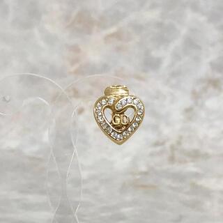 クリスチャンディオール(Christian Dior)の正規品 ディオール イヤリング 片方 ハート ラインストーン 石 ゴールド 金(イヤリング)