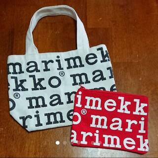 marimekko - マリメッコ marimekko ロゴトートバッグ&ポーチ
