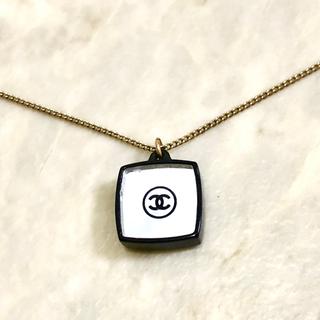 シャネル(CHANEL)の正規品 シャネル ネックレス ミラー ココマーク リバーシブル ゴールド 黒 2(ネックレス)