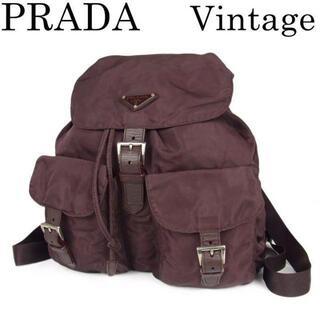 プラダ(PRADA)のrara様専用プラダ ヴィンテージ 巾着式 リュックサック バックパック バッグ(リュック/バックパック)