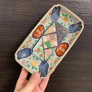 ハサミ(HASAMI)の新品 林九郎 窯 波佐見焼 有田焼 古伊万里様式 手作り お皿 魚 焼物皿 陶芸(食器)